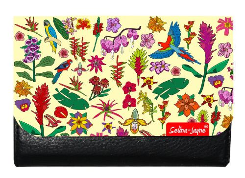 Selina-Jayne Tropical Flowers Limited Edition Designer Small Purse